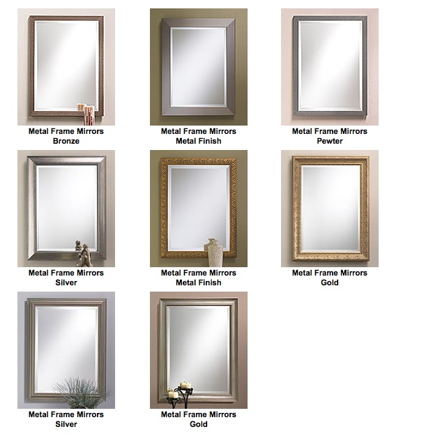 custom metal framed mirrors gallery