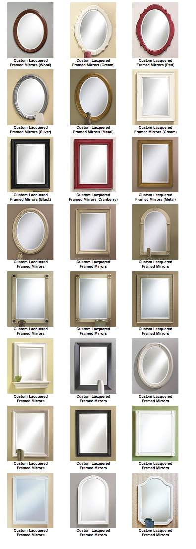 Custom Lacquered Frameless Mirrors Gallery