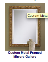 Custom Metal Framed Mirror Gallery