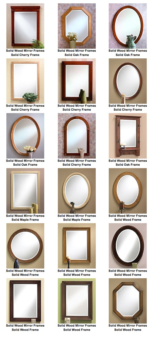 Solid Wood Framed Mirrors